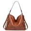 Obangbag Brown Women Vintage Big Large Capacity Multifunction Professional Leather Tote Bag Crossbody Bag for Work