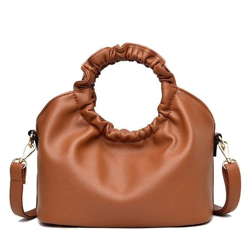 Obangbag Brown Women Vintage Designer Elegant Chic Lightweight Large Capacity Solf Leather Handbag Shoulder Bag Crossbody Bag