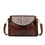 Obangbag Brown Women Vintage Retro Chic Stylish Crocodile Leather Crossbody Bag Shoulder Bag