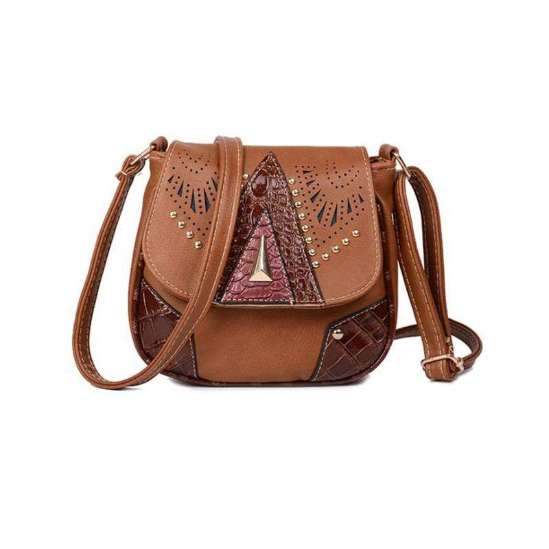 Obangbag Brown Women Vintage Retro Cute PU Leather Crossbody Bag Shoulder Bag
