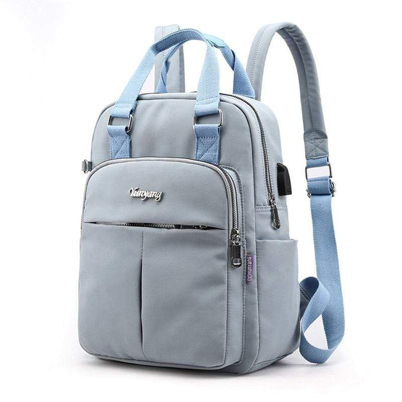 Obangbag Casual Outdoor Multi Function Multi Pockets Waterproof Nylon Backpack