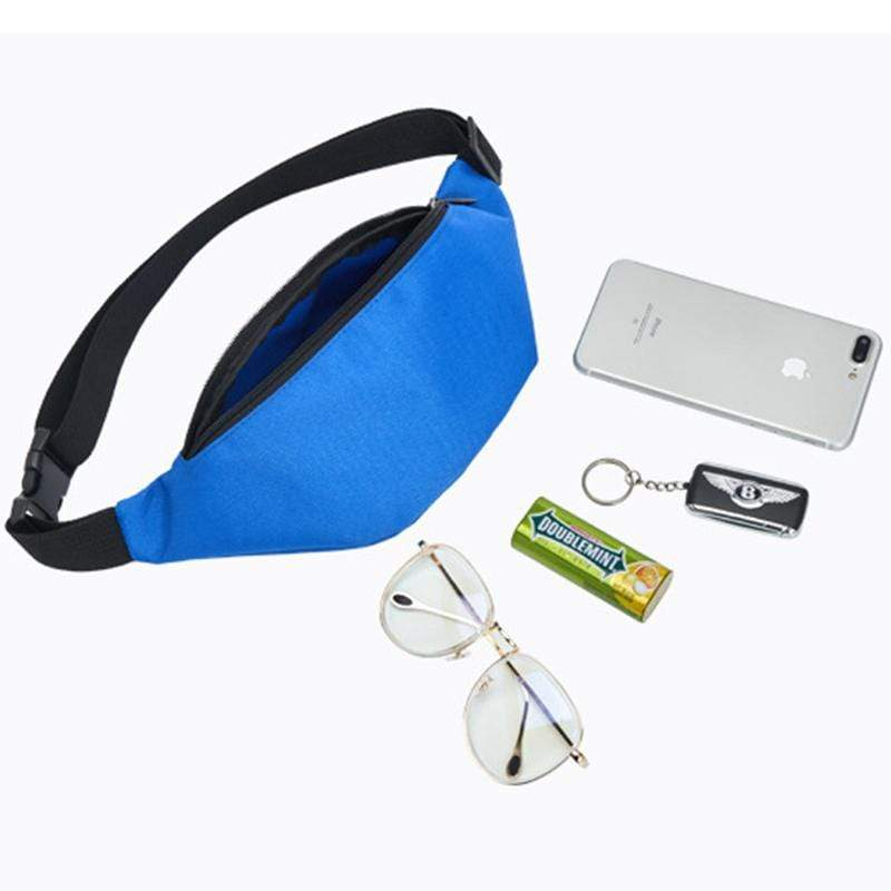 Obangbag Casual Roomy Multifunction Oxford Waterproof Fanny Pack Phone Bag Chest Bag