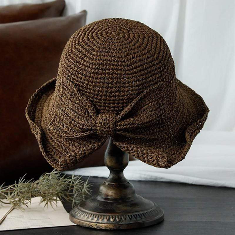 Obangbag coFFEE Woman straw hat with bow
