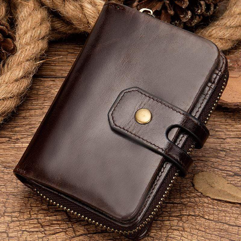 Obangbag Coffee Women Chic Cute Large Capacity Multifunction Genuine Leather Wallet