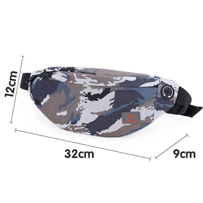 Obangbag Color 1 Unisex Lightweight Multifunction Casual Sports Outdoor Waterproof Fanny Pack Phone Bag