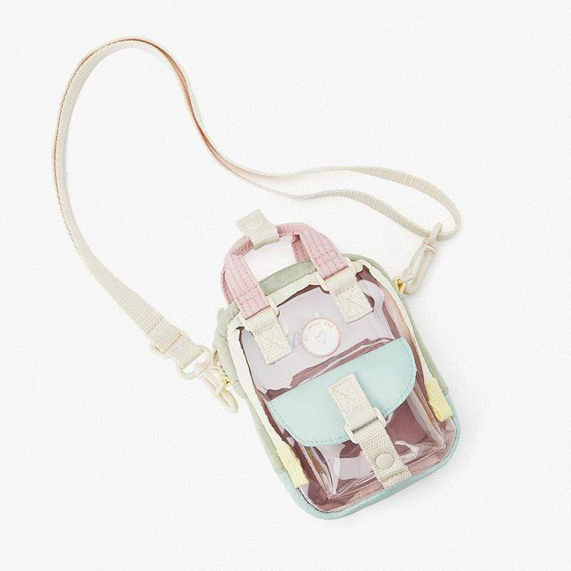 Obangbag Colorful Women Cute Girl Mini Colorful Clear Transparent Handbag Crossbody Bag