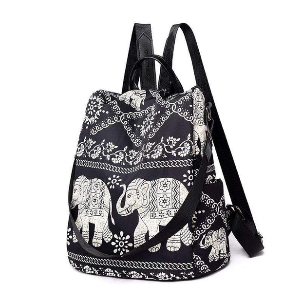 Obangbag Cute Printed Anti Theft Pockets Nylon Work Backpack