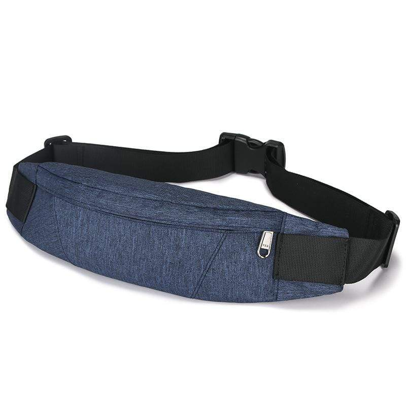 Obangbag Dark Blue Men Stylish Multifunction Roomy Casual Sports Outdoor Oxford Waterproof Fanny Pack Waist Bag