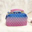 Obangbag Dark Blue+Rose Red Women Stylish Street Large Capacity Roomy Colorful PVC Handbag Jelly Bag