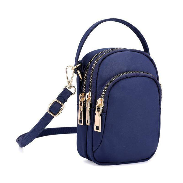 Obangbag Dark Blue Waterproof Multi Function MINI Women's Handbag Crossbody Bag Phone Bag