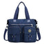 Obangbag Dark Blue Women Large Capacity Travel Handbag Anti Splashing Water Ladies Shoulder Bag