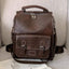 Obangbag Dark Brown Women Vintage Fashion Large Capacity Multifunction Leather Backpack Shoulder Bag for Work for Travel