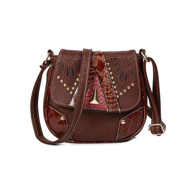 Obangbag Dark Brown Women Vintage Retro Cute PU Leather Crossbody Bag Shoulder Bag