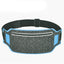 Obangbag Dark Gray+Blue Unisex Casual Simple Multifunction Outdoor Anti-theft Running Lycar Waterproof Fanny Pack for Sport
