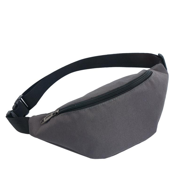 Obangbag Dark Gray Casual Roomy Multifunction Oxford Waterproof Fanny Pack Phone Bag Chest Bag