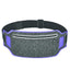 Obangbag Dark Gray+Dark Blue Unisex Casual Simple Multifunction Outdoor Anti-theft Running Lycar Waterproof Fanny Pack for Sport