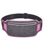 Obangbag Dark Gray+Pink Unisex Casual Simple Multifunction Outdoor Anti-theft Running Lycar Waterproof Fanny Pack for Sport