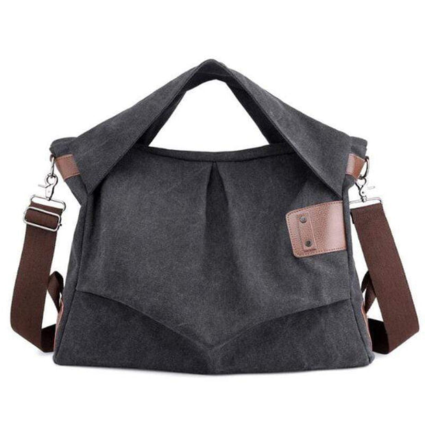 Obangbag Dark Gray Wearable Canvas Large Capacity Multi-function Retro Vintage Messenger Bag