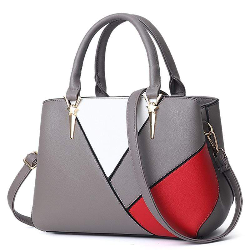 Obangbag Dark Grey Women Cute Stylish Professional Multi Pockets PU Leather Handbag Shoulder Bag Crossbudy Bag for Work