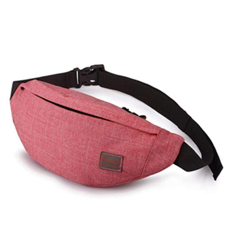 Obangbag Dark Red Unisex Lightweight Multifunction Casual Sports Outdoor Waterproof Fanny Pack Phone Bag