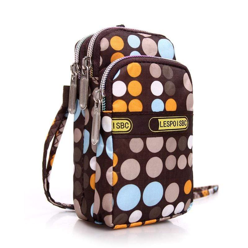 Obangbag Dot Women Mini Cute Colorful Multi Pockets Oxford Clutch Bag Shoulder Bag