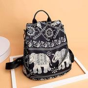 Obangbag Elephant Cute Printed Anti Theft Pockets Nylon Work Backpack