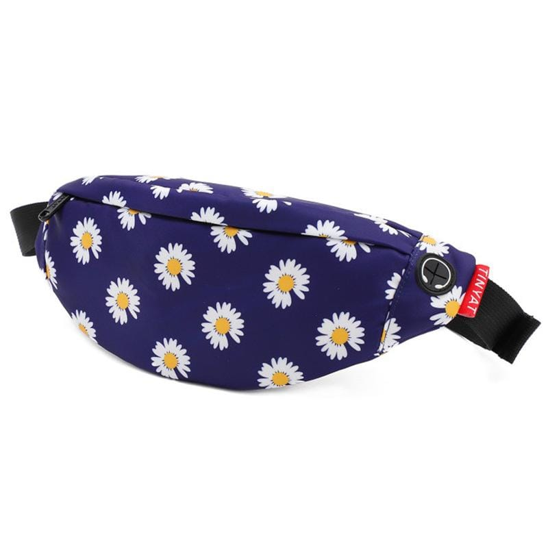 Obangbag Flower Blue Unisex Lightweight Multifunction Casual Sports Outdoor Waterproof Fanny Pack Phone Bag