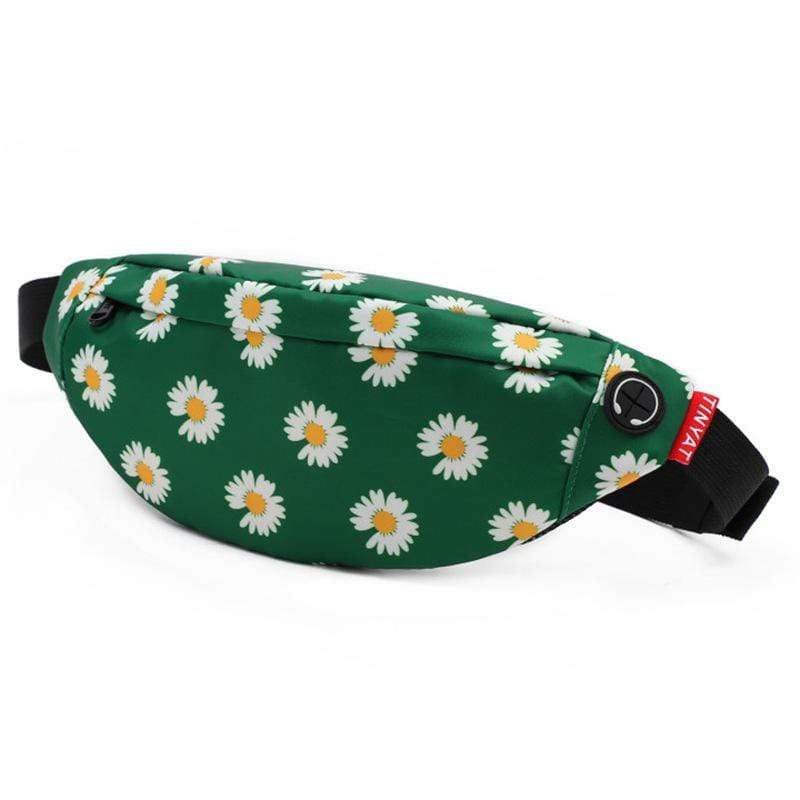 Obangbag Flower Green Unisex Lightweight Multifunction Casual Sports Outdoor Waterproof Fanny Pack Phone Bag