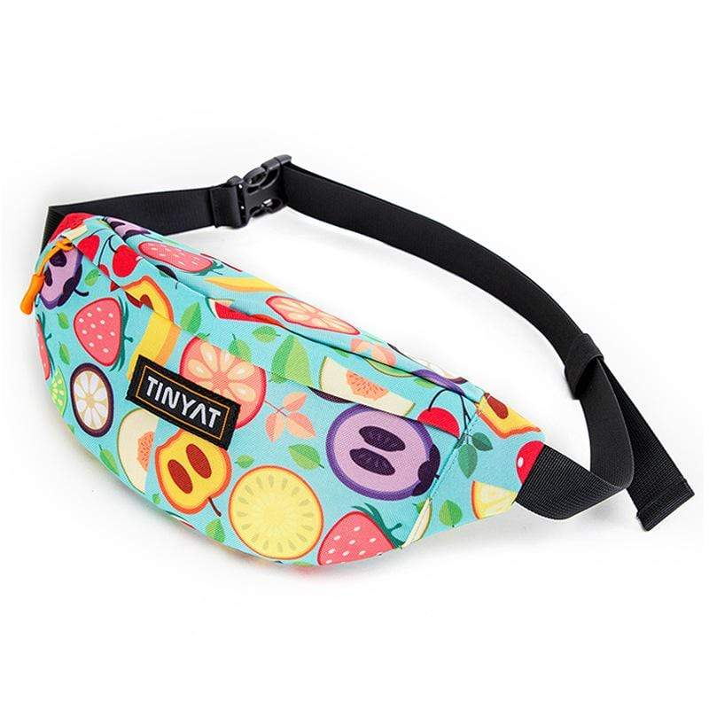 Obangbag Fruit Printed Unisex Lightweight Multifunction Casual Sports Outdoor Waterproof Fanny Pack Phone Bag
