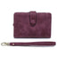 Obangbag Fuchsia Women Chic Elegant Multi Layers Roomy Lightweight Leather Wallet Clutch Bag
