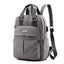 Obangbag Gray Casual Outdoor Multi Function Multi Pockets Waterproof Nylon Backpack