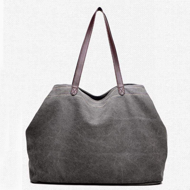 Obangbag gray Large Capacity Casual School Teacher Canvas Tote Bags
