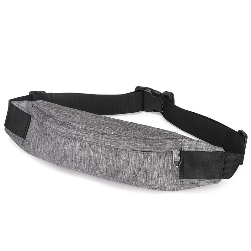 Obangbag Gray Men Stylish Multifunction Roomy Casual Sports Outdoor Oxford Waterproof Fanny Pack Waist Bag
