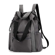 Obangbag Gray Multifunction Adjustable Travel Backpack Waterproof Zipper Shoulder Bag Backpack
