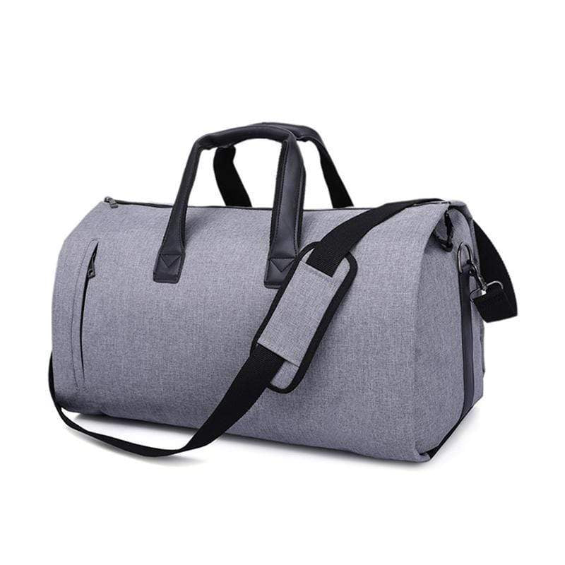 Obangbag Gray Multifunction Layered Travel Bag Business Trip Luggage Bag Designed for Suit