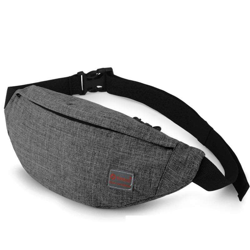 Obangbag Gray Unisex Lightweight Multifunction Casual Sports Outdoor Waterproof Fanny Pack Phone Bag