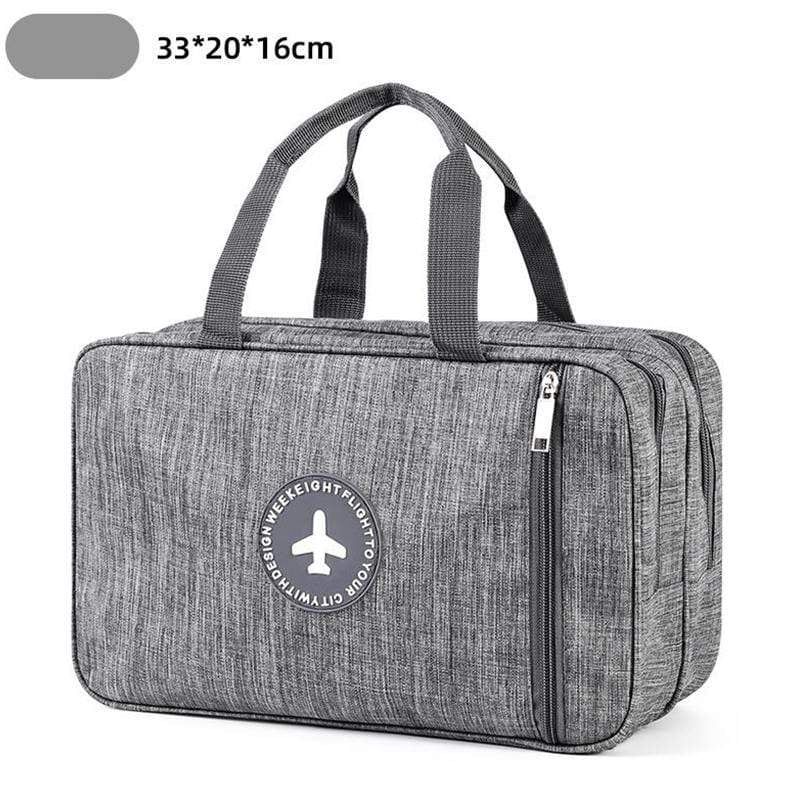 Obangbag Gray Unisex Simple Large Capacity Multi Pockets Waterproof Oxford Handbag Fitness Bag for Sport for Beach