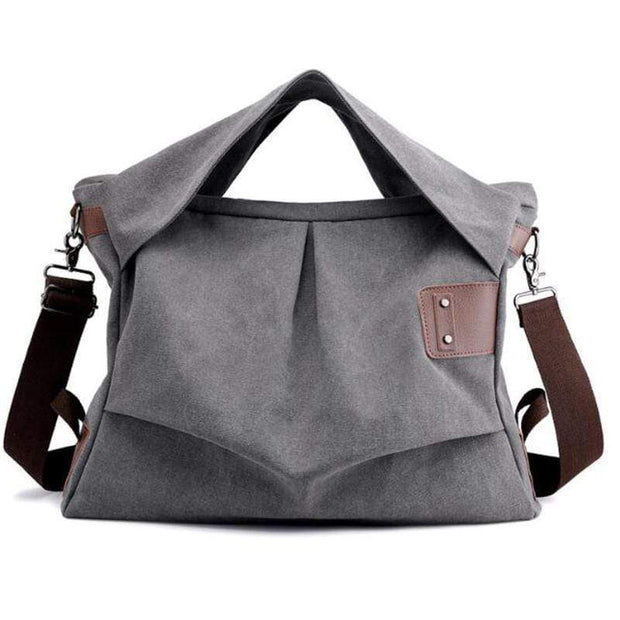 Obangbag Gray Wearable Canvas Large Capacity Multi-function Retro Vintage Messenger Bag