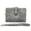 Obangbag Gray Women Chic Elegant Multi Layers Roomy Lightweight Leather Wallet Clutch Bag