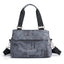 Obangbag Gray Women Chic Fashion Large Capacity Multi Pockets Printed Nylon Handbag Crossbody Bag for Work