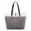 Obangbag Gray Women Daily Casual Large Capacity Lightweight Canvas Handbag Tote Bag Shoulder Bag