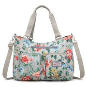 Obangbag Gray Women Floral Print Multi Pockets Big Capacity Teacher Cloth Tote Bag