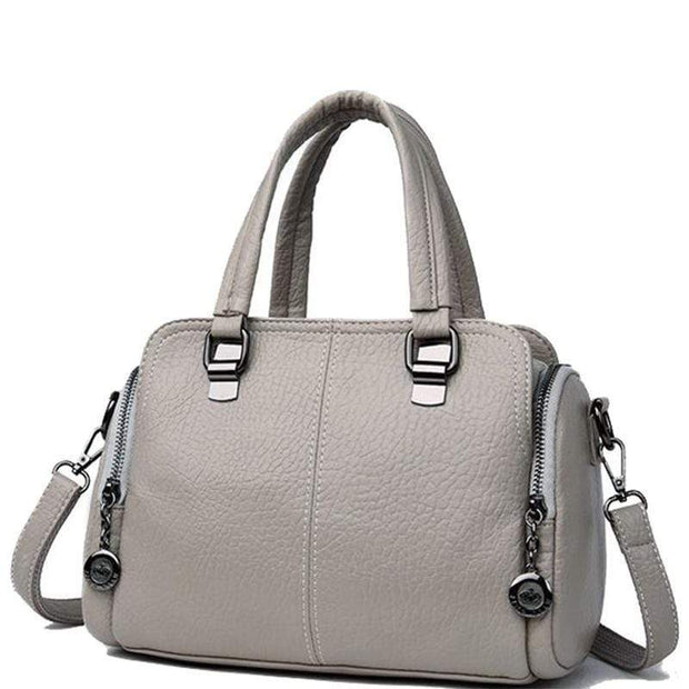 Obangbag gray Women's Handbag Solid Color All Matched Elegant Large Capacity Bag