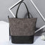 Obangbag Gray Women Simple Vintage Roomy Patchwork Gradient Leather Bucket Bag Tote Bag Handbag