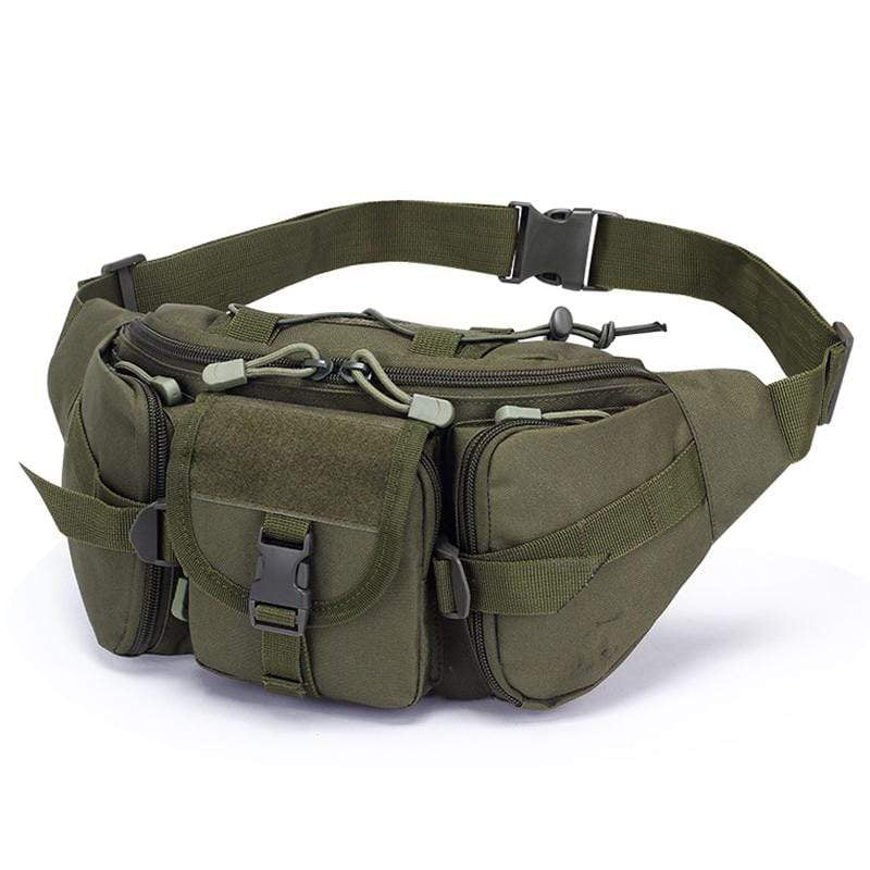 Obangbag Green Men Multifunction Multi Pockets Roomiy Outdoor Waterproof Waist Bag for Sport