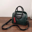 Obangbag Green Multi Pockets Retro Vintage Classical Oil Wax Leather Handbag
