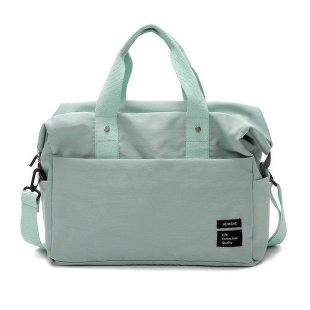 Obangbag Green Multifunctional Large Capacity Handbag Messenger Bag Luggage Bag Travel Bag