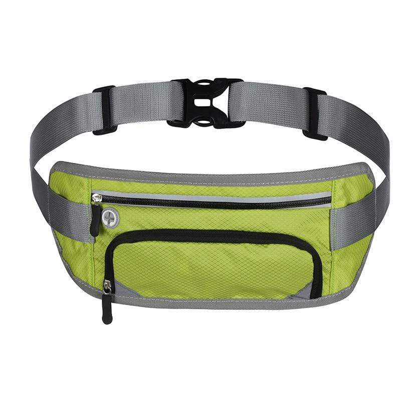 Obangbag Green Unisex Large Capacity Earphone Access Outdoor Waterproof Fanny Pack Waist Bag for Sport