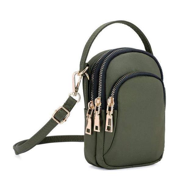 Obangbag Green Waterproof Multi Function MINI Women's Handbag Crossbody Bag Phone Bag