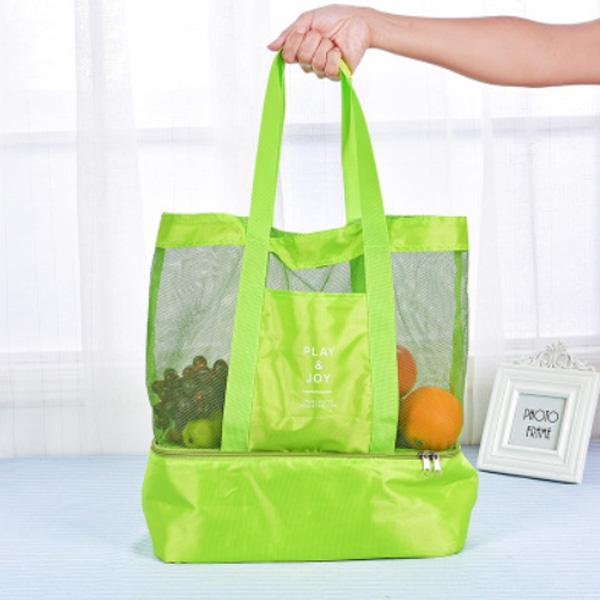 Obangbag Green Women Fashion Outdoor Multifunction Roomy Sports Picnic Nylon Storage Bag Shoulder Bag